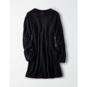 American Eagle Ballon Sleeve Sweater Dress XS Blk